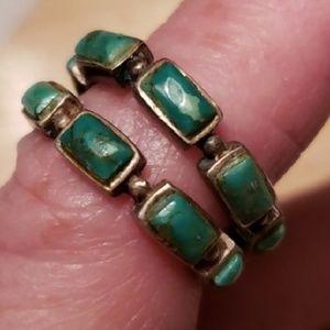 Turquoise Sterling Silver Hoop Earrings